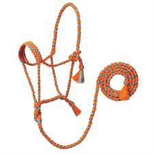 TK35-7825-Average-Org/Gry Halter Braided UV Rope w/Lead