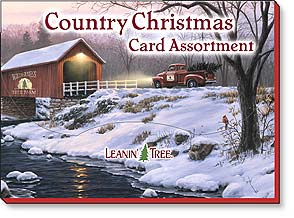 BGAST90206 Cards: 20 Blank Assortment - Country Xmas
