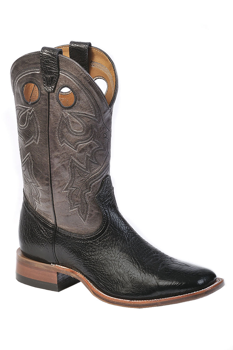 CL9033-7-Blk/ Gry Cowboy Boot Mens Square Toe Wide Width