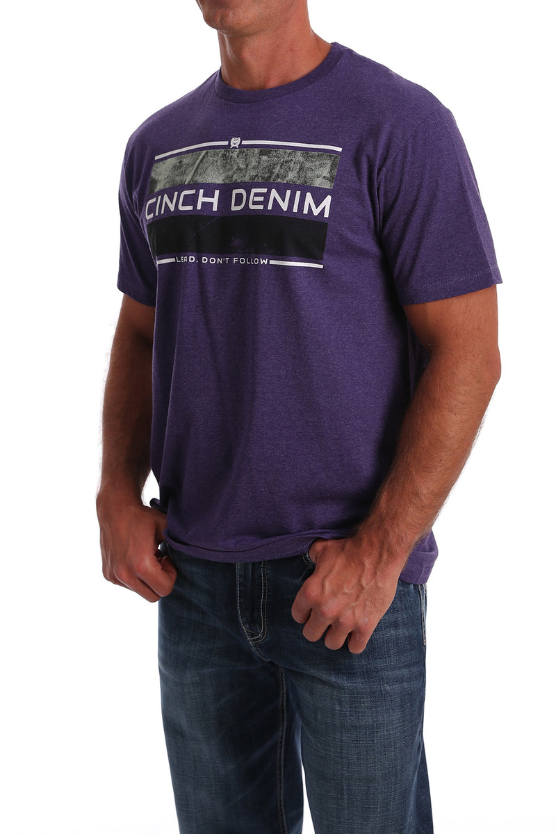 CLMTT1690406-L-Purple T-Shirt Cinch Graphic - Purple