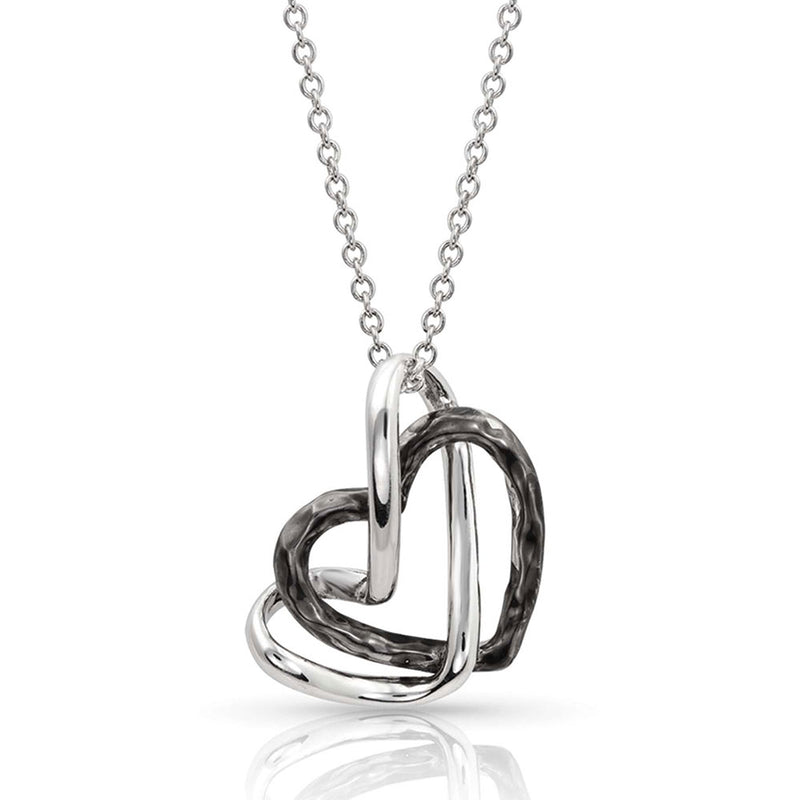BGNC4305 Necklace - Starlight Double Heart