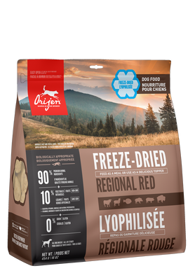FSD403-58316 Orijen Dog Food Regional Red FREEZE Dried Adult 16 oz