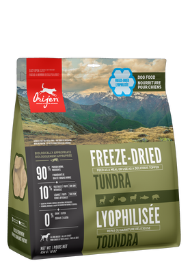 FSD403-58516 Orijen Dog Food Tundra FREEZE Dried Adult 16 oz