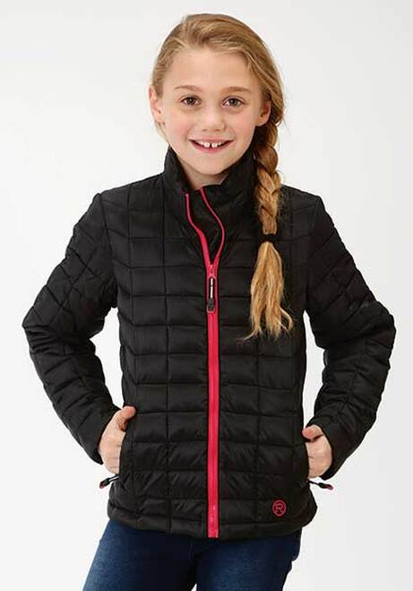 CL03-298-0693-6112-XS-Black Girls PolyFilled Jacket