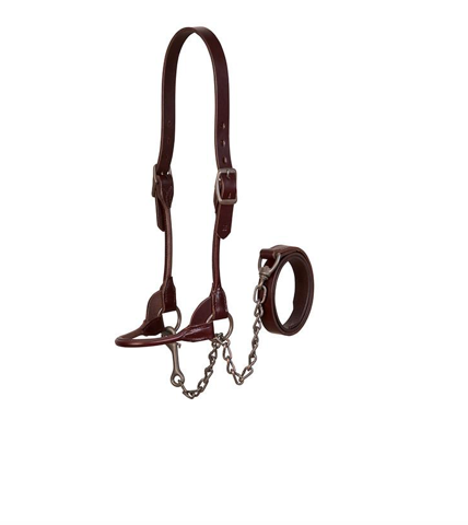 AC90-0651 Leather Cattle Halter - Med