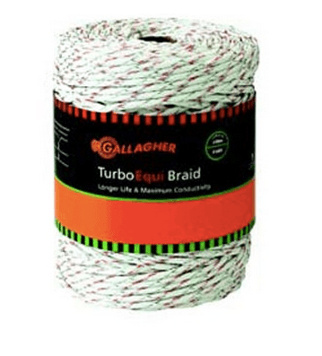 "FEG62176 Gallagher Turbo Equibraid 1/4"" 400m"