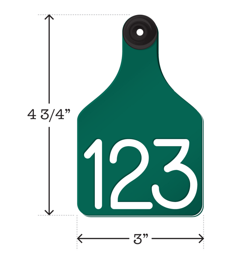 ACRTCOW2-Large-Green Ritchey Universal Cow Tags 25's
