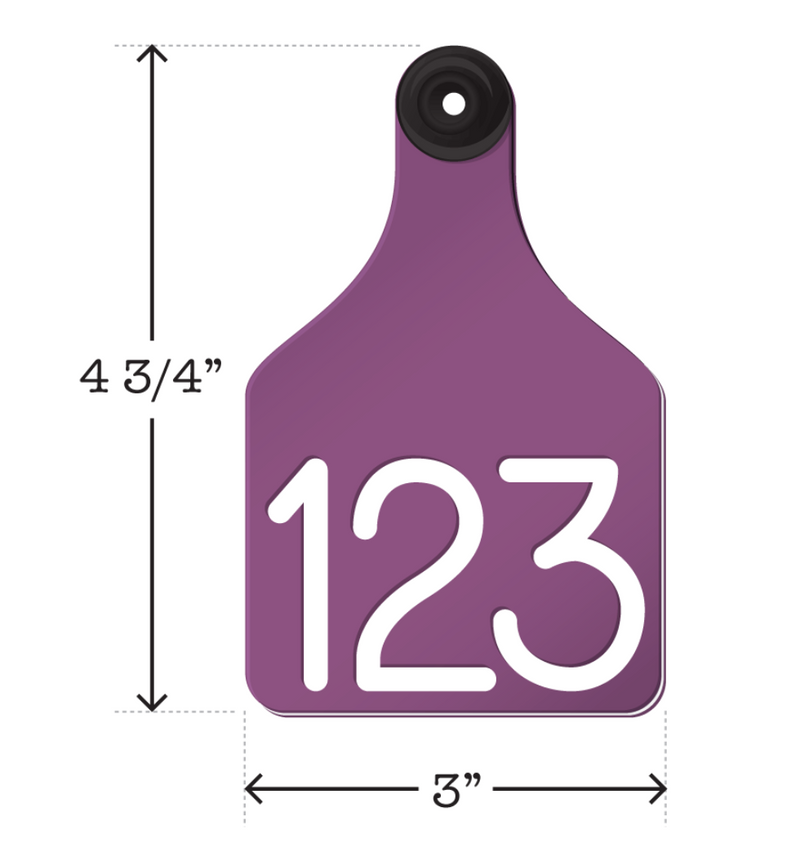 ACRTCOW2-Large-Purple Ritchey Universal Cow Tags 25's