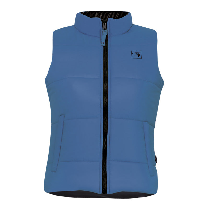 CLPF495-L-Bl/Blk Insulated Ladies Reversible Vest