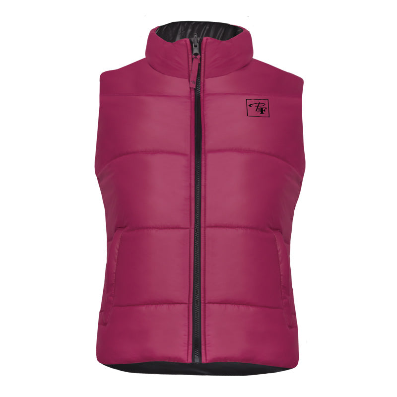 CLPF495-L-Pnk/Blk Insulated Ladies Reversible Vest