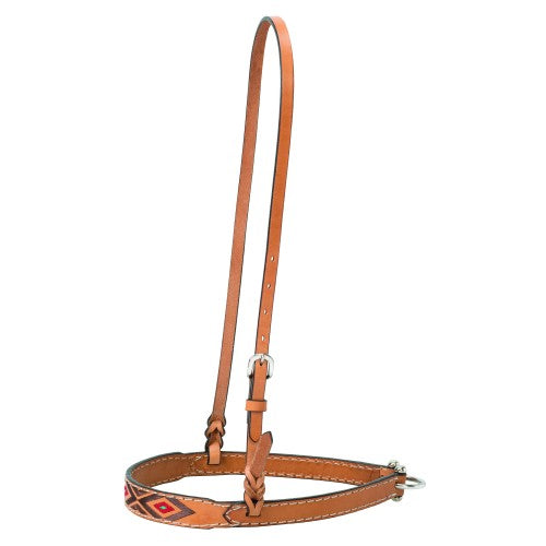 TK45-0234 Noseband Turq Cross Lt Oil