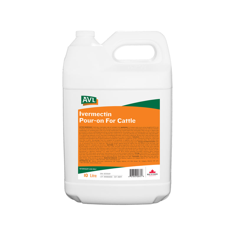 AC1021-020 Ivermectin Pour- On for Cattle 10l AVL