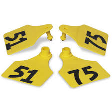 ACFLXNUM-51-75-Yellow Allflex Maxi Numbered Tags 25's