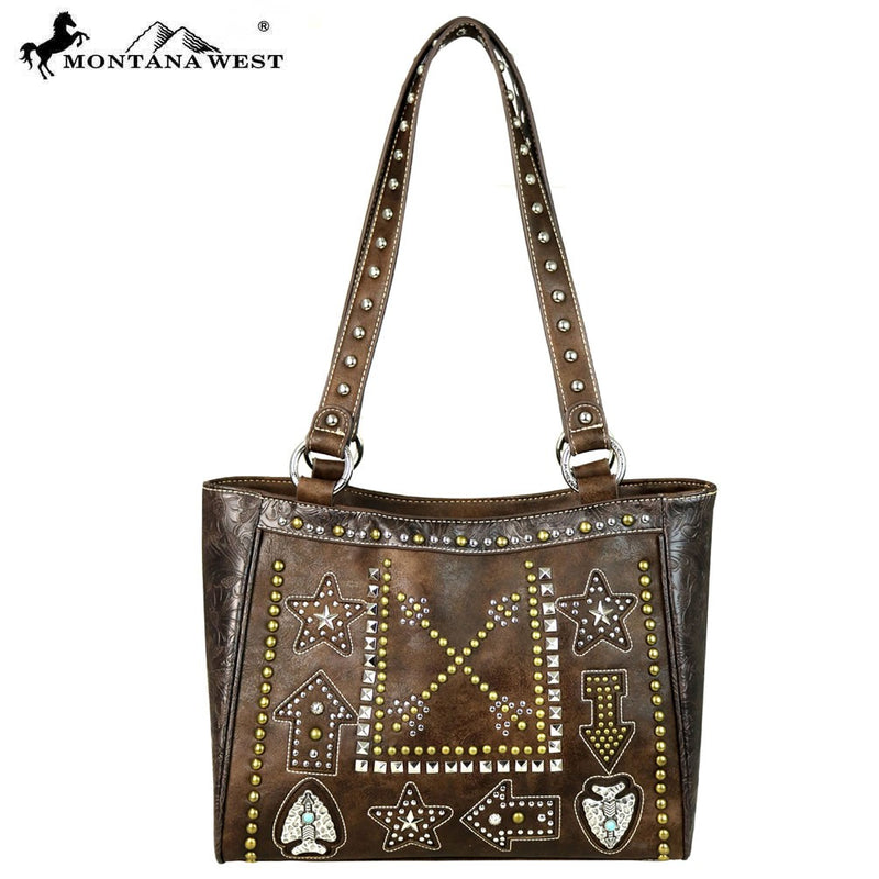 BGMW573-8304 Purse-Montana West Arrow Studded Collection