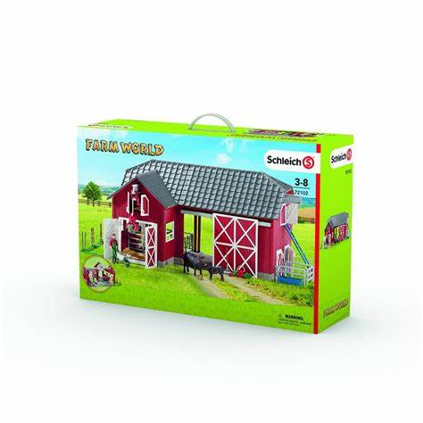 BG72102 Toy-Schleich Large Red Barn/accessories