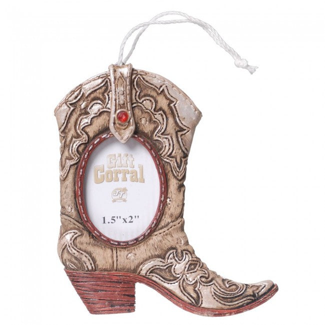 BG91-1051 Ornament-Hanging Cowboy Boot Frame