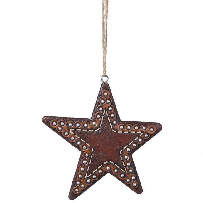 BG91-1096 Ornament Star Leather Look w/Studs