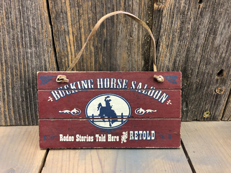 "R32 Ornament Sign ""Bucking Horse"""