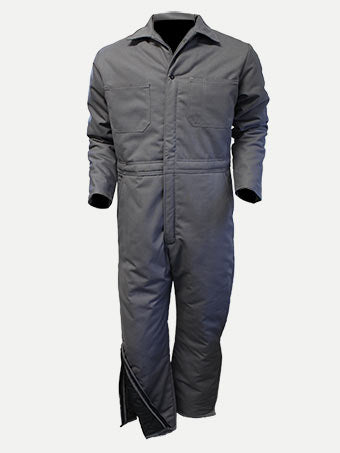 CL1550-S-Grey Coveralls Big Al P/C Leg Zip