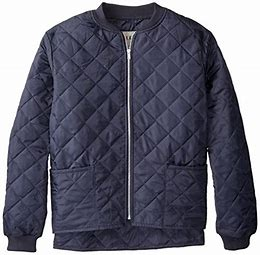 CL17X911-L-Navy Jacket Mens Work King Quilted Freezer