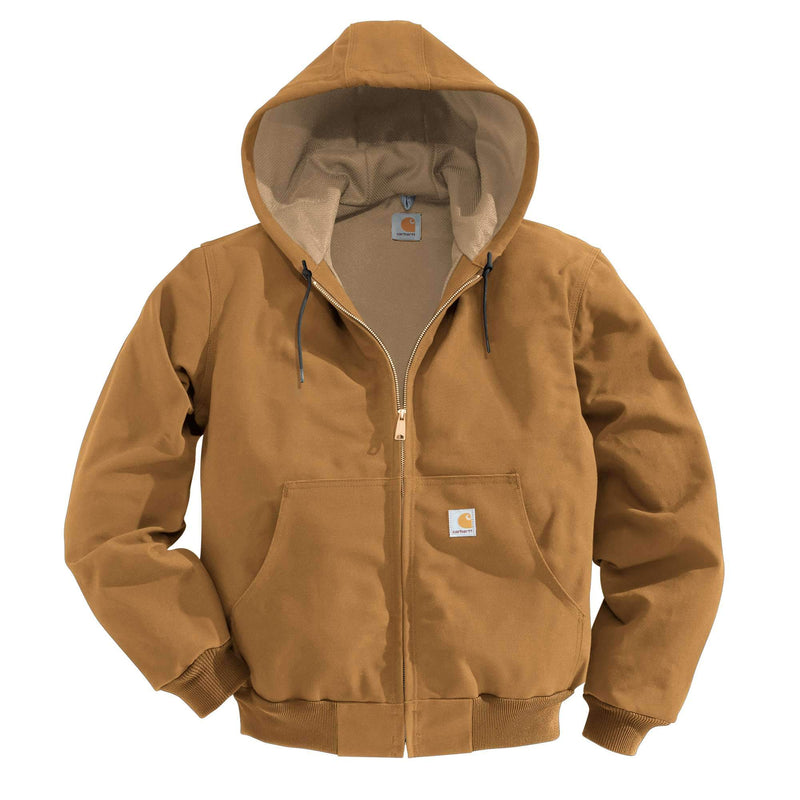 CLJ131-SML-Brown Carhartt Mens Jacket Duck Thermal Lined
