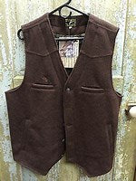 CLVC-L-Brown Vest-Men's Wyoming Wool Button Front