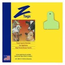 ACZTAG22-S-Green Z Tags Small Animal 1 Pc 50's