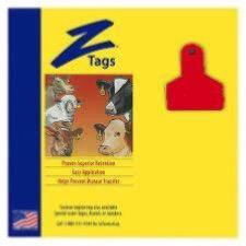 ACZTAG22-S-Red Z Tags Small Animal 1 Pc 50's