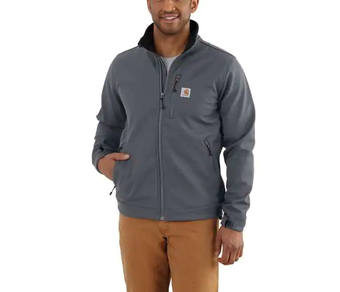 "CL102199-LT-Gray Jacket ""Crowley"" Rugged Flex"