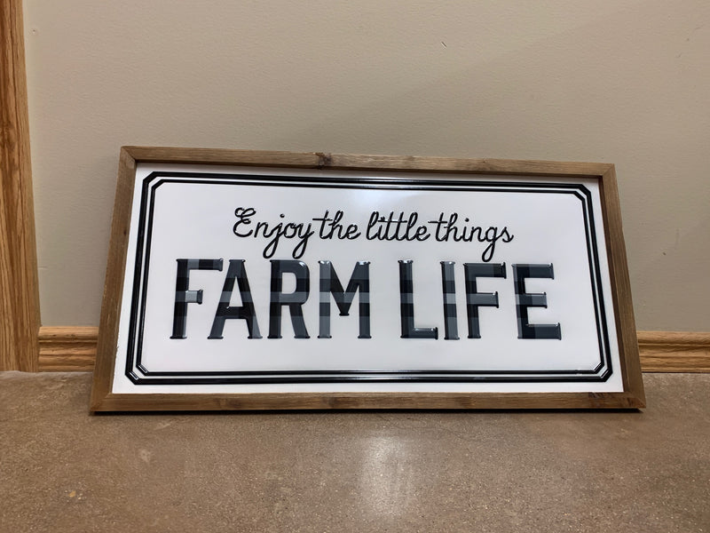 BG6AWD578 Wall Sign - Enjoy the little things Farm Life