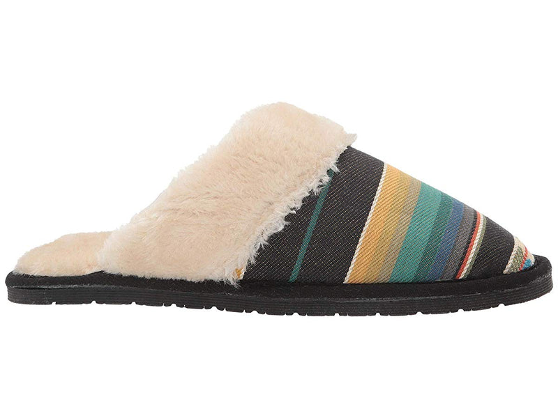 "CL5725697-S-Stripe Slipper Fur Slide ""Sidney"""