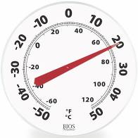 "HGTR605 Thermometer Dial 12"" Blk/White"