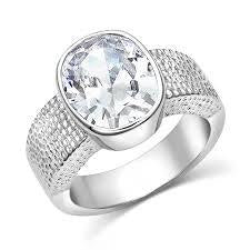 BGRG4040-7-7 Montana Ring Large Oval CZ