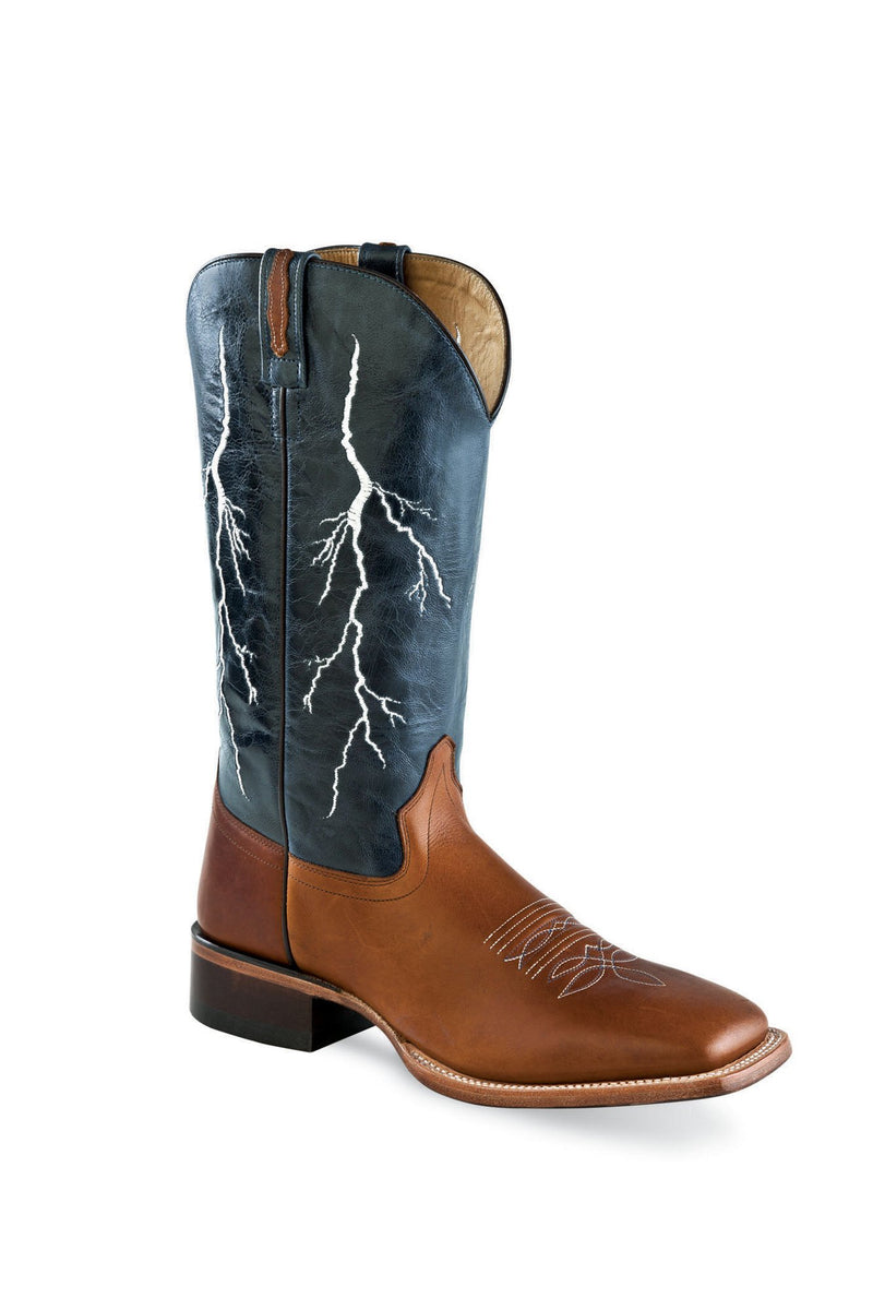 CLBSC1828-10 Cowboy Boot CHILD Navy Lighting/Brown
