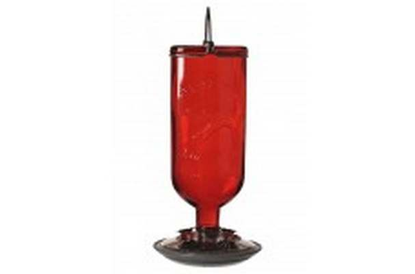 HG204CP-4 Bird Feeder-Hummingbird Red Glass 16oz