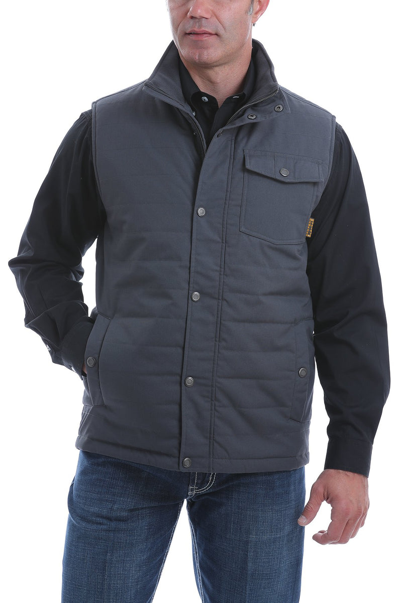 CLMWV1532002-2XL-Grey Vest Cinch Mens Quilted