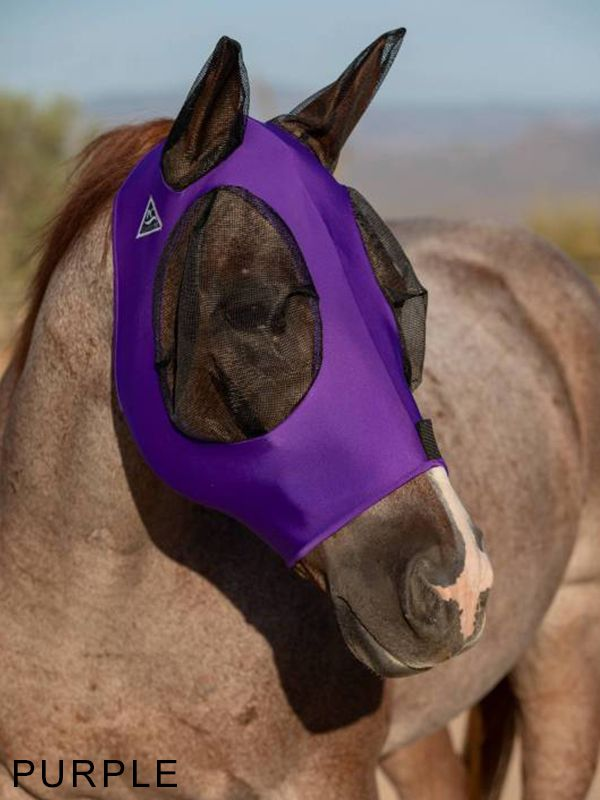 TKCFM100-COB-Blk Purp Fly Mask PC Comfort Fit Lycra
