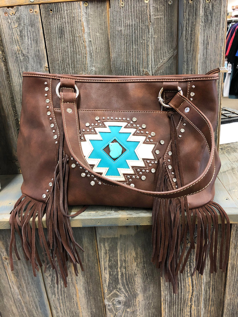 BGMW841G-8317CF Purse - Aztec Collection w/Turq Stone