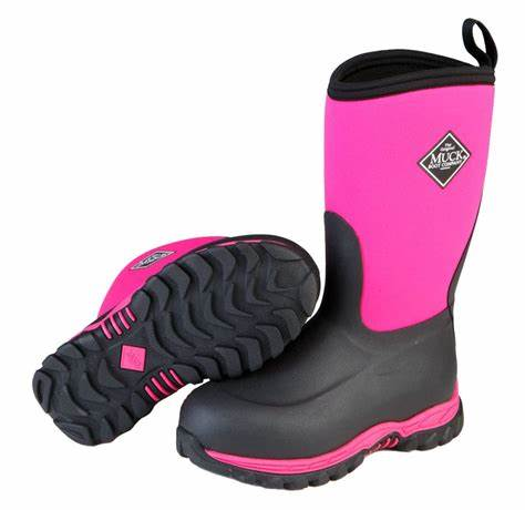 CLMBRG2-1-Blk/Pink Muck Boot Kids Rugged II