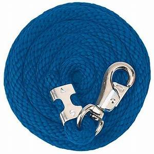 TK35-2110-10'-Blue Poly Rope Lead 10' Bull Snap