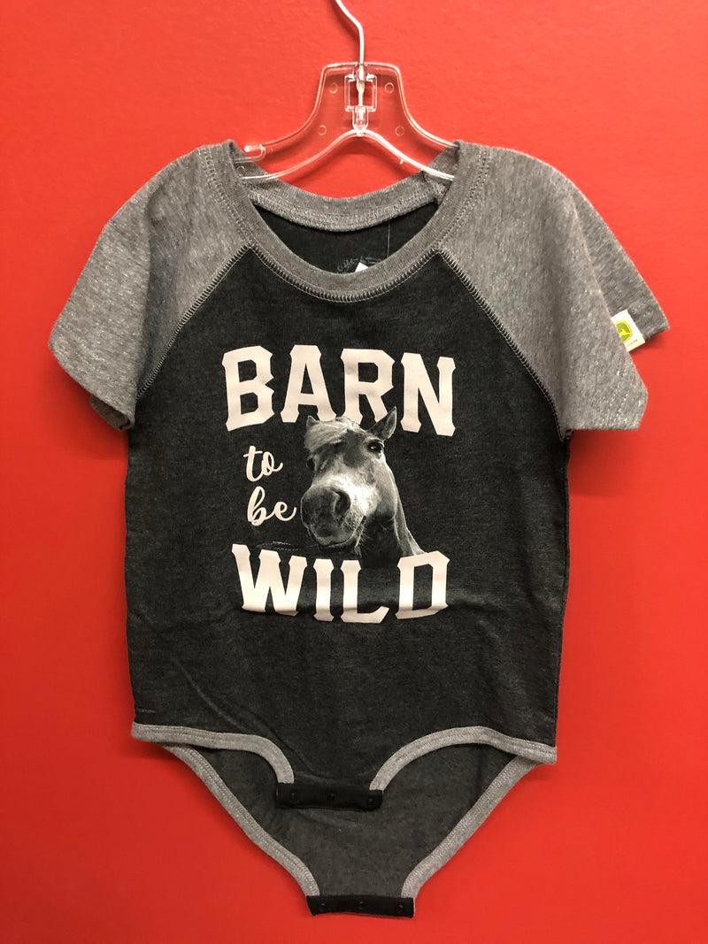 CLD53264454-4T-Black Hoodie - Barn to be Wild