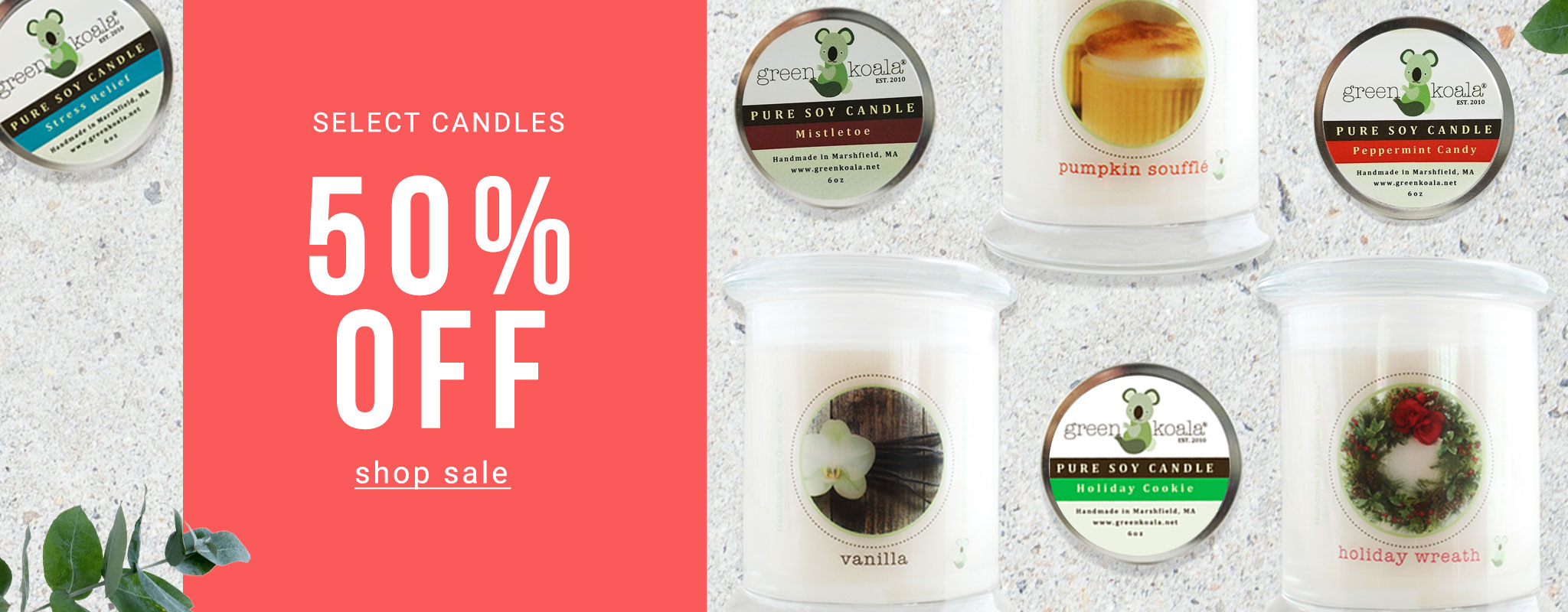 50% Off Select Candles