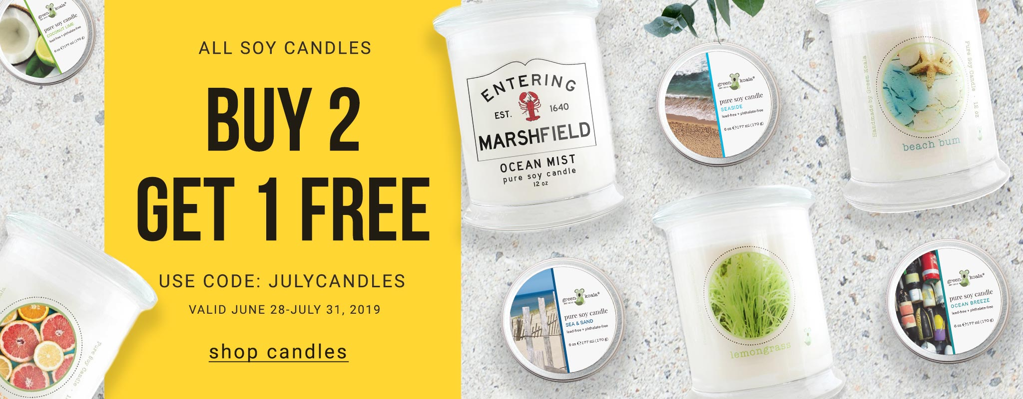 Buy 2 Soy Candles Get 1 Free
