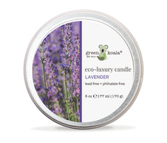 Green Koala Organic Lavender Eco-Luxury Candle Glass Jar With Lid
