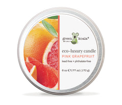 Green Koala Organic Pink Grapefruit Eco-Luxury Candle Tin With Lid