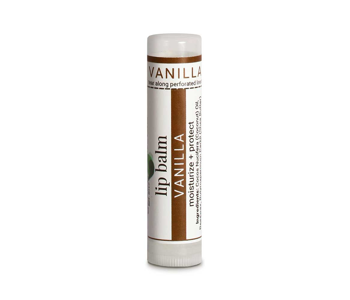 Organic Vanilla Lip Balm for Dry Chapped Lips