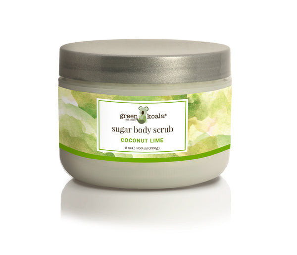 Organic Coconut Lime Exfoliating Sugar Body Scrub-8 oz