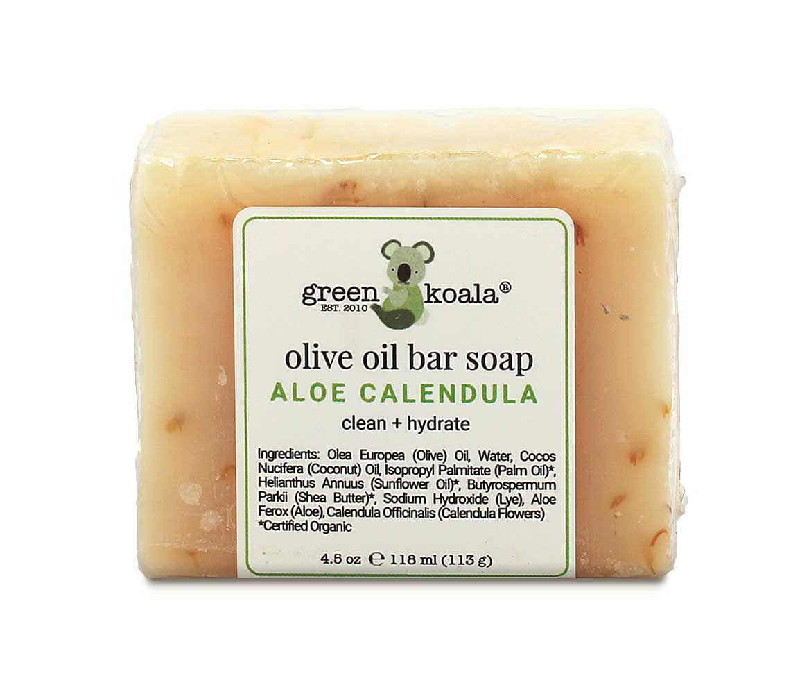 Green Koala Organic Aloe & Calendula Olive Oil Bar Soap