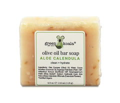 Aloe Calendula Organic Bar Soap for Sensitive Skin