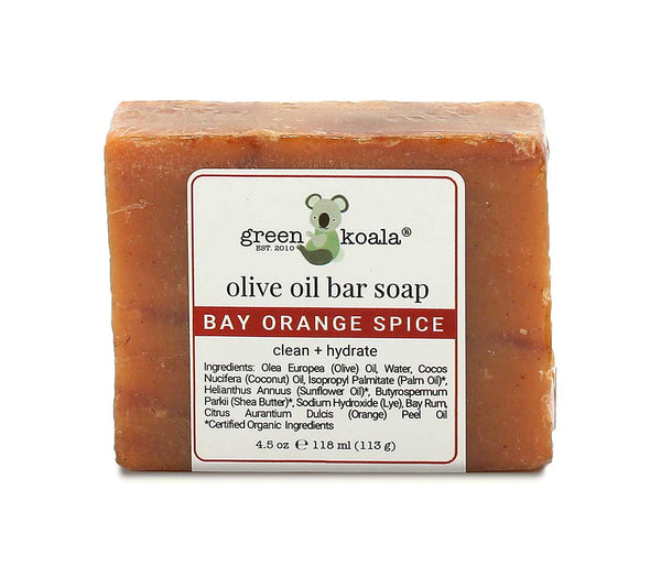 Green Koala Organic Bay Orange Spice Bar Soap